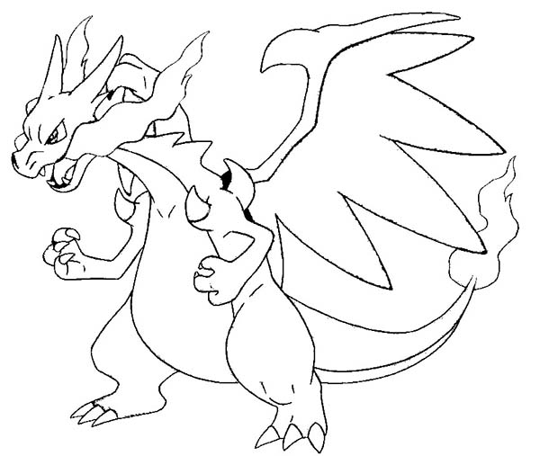 here home charizard charizard is angry coloring page