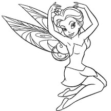 Charming Rosetta in Pixie Coloring Page