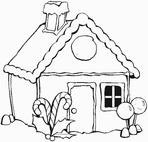 Free Coloring Pages Of Christmas Gingerbread House