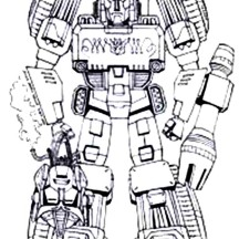 Classic Megatron Coloring Page