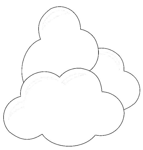 Clouds coloring page for kids netart for Coloring pages clouds