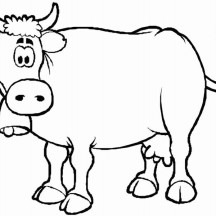 Confuse Milch Cow Coloring Page