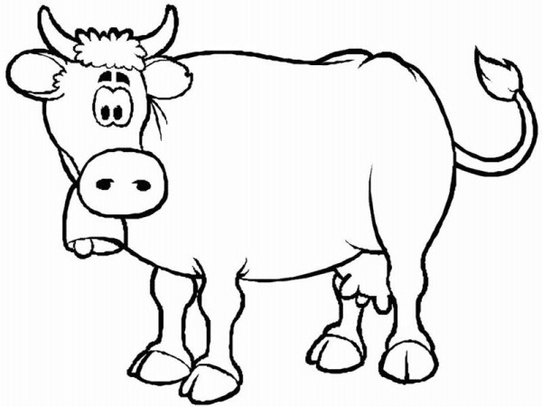Awesome Cow Coloring Page Images Coloring Page Design zaenalus