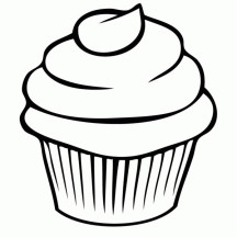 Cupcake Coloring Page