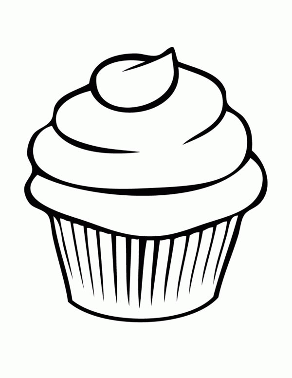 cupcake coloring page - Coloring Pages Of Cupcakes