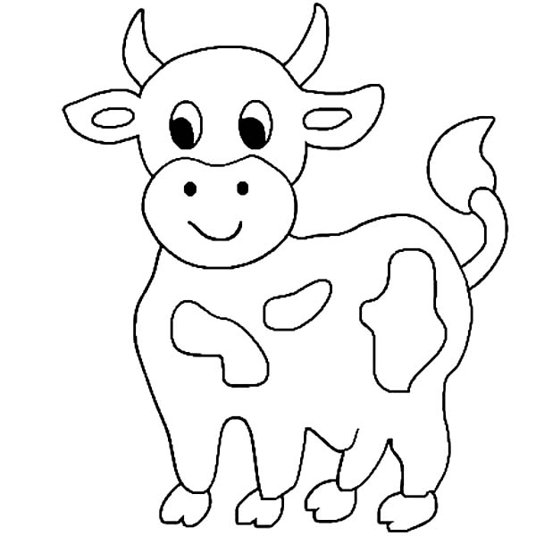 cute little cow coloring page