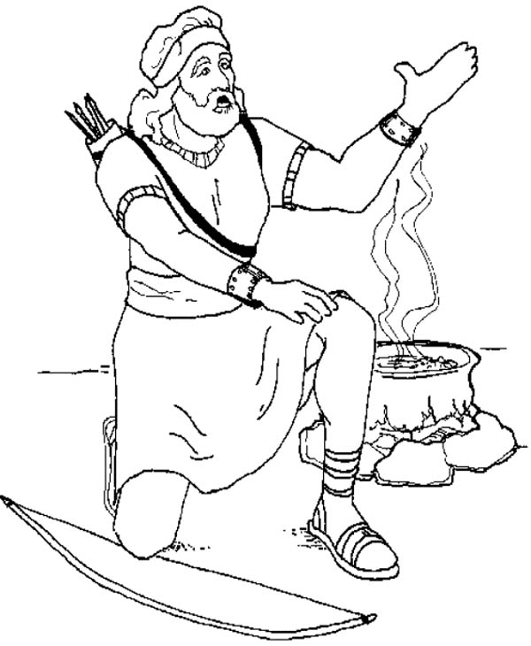 David In The Battle Of Gilboa Story King Saul Coloring Page