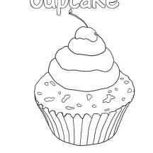 Delicious Cupcake with a Little Wick at the Top Coloring Page