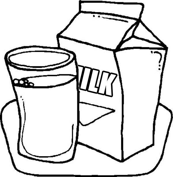 Delicious Milk in Milk Carton Coloring Page - NetArt