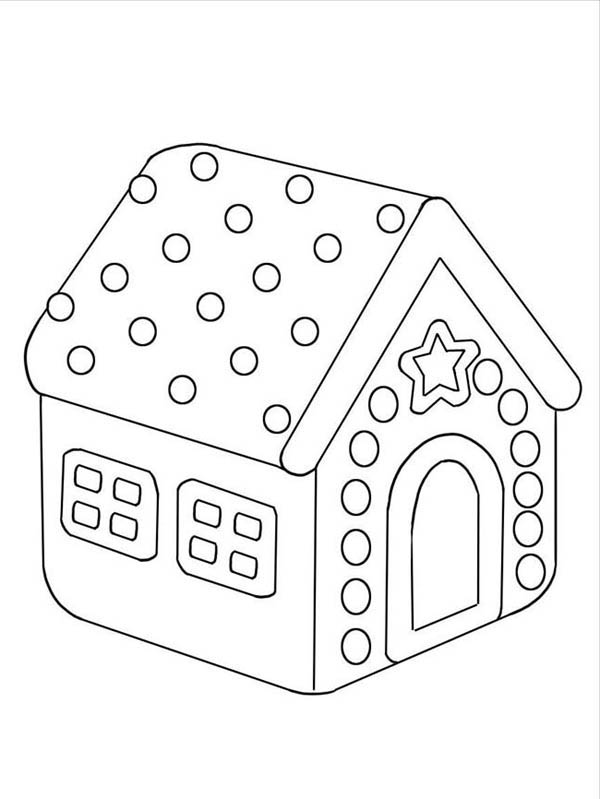 Delight Gingerbread House Coloring Page