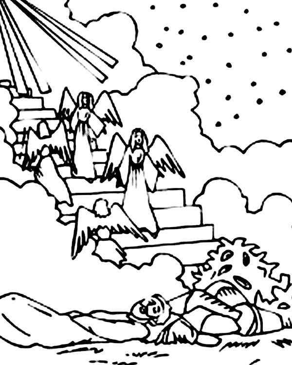 jacob s ladder coloring pages - jacob s dream coloring pages coloring pages