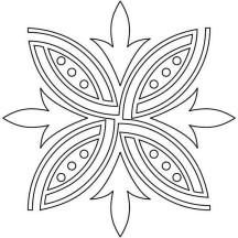 Designing Rangoli Coloring Page