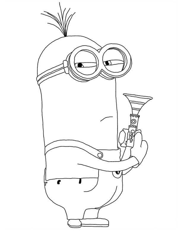 Despicable Me Character Kevin the Minion Coloring Page NetArt