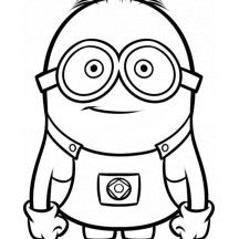 Despicable Me Minion Dave Coloring Page