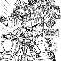 Devastator and Megatron Coloring Page