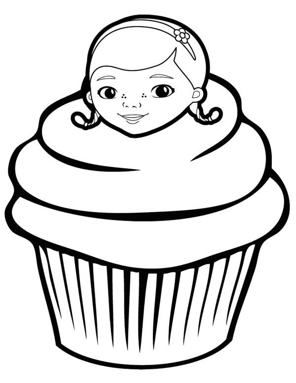 Doc McStuffins Cupcake Coloring Page - NetArt
