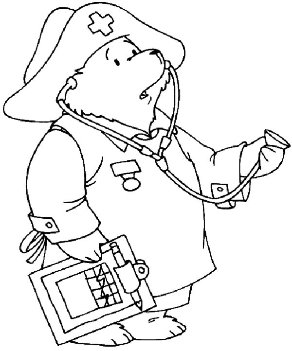 Nurse Coloring Pages Doctor Paddington Looking For His Nurse Coloring Page  Netart