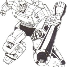 Drawing of Megatron Coloring Page