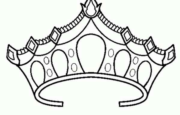 Drawing Of Princess Crown Coloring Page Netart