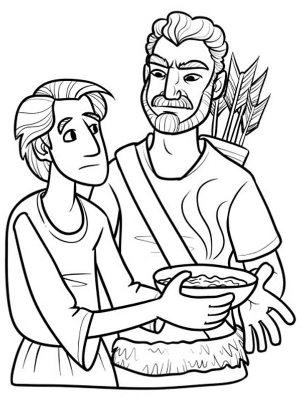 jacob meets esau coloring pages - photo#46