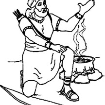 Esau Want Some Red Pottage in Jacob and Esau Coloring Page