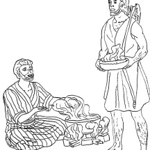 esaus birthright coloring pages - photo#10