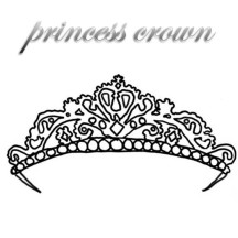 Expensive Princess Crown Coloring Page
