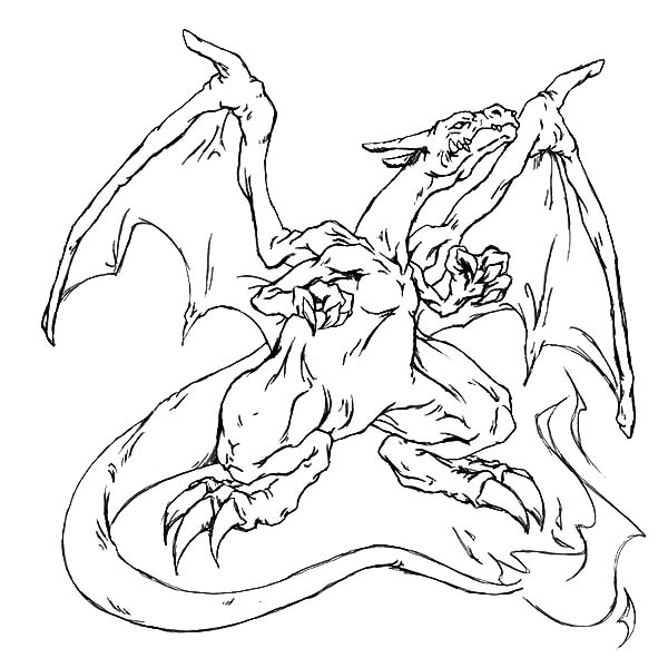 Fire Charizard Pokemon Coloring Page  NetArt