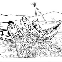 fisherman miraculous catch is one of miracles of jesus coloring page