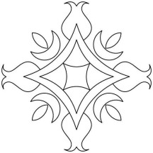 Floral Design Rangoli Coloring Page