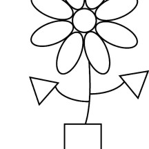 Flower Shapes Coloring Page