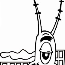 Giant Plankton and Small Building Coloring Page