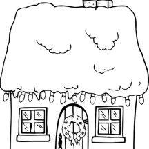 Gingerbread House and a Lot of Lamp Coloring Page