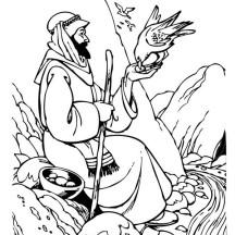 Good Samaritan Feeding Hungry Birds Coloring Page