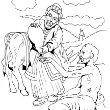 Good Samaritan Give Some Water Coloring Page