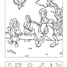 Good Samaritan Hidden Puzzle Coloring Page