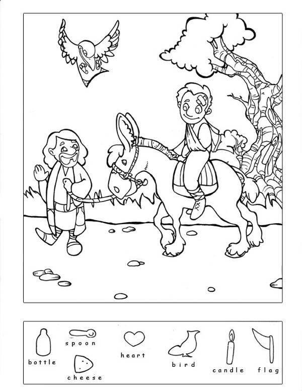 Good Samaritan Hidden Puzzle Coloring Page