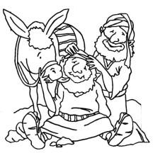 Good Samaritan Massage Traveller Head Coloring Page