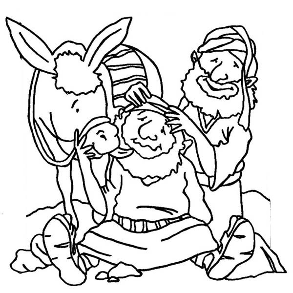 good samaritan massage traveller head coloring page - Good Samaritan Coloring Pages