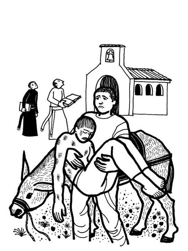 good samaritan picture coloring page - Good Samaritan Coloring Page