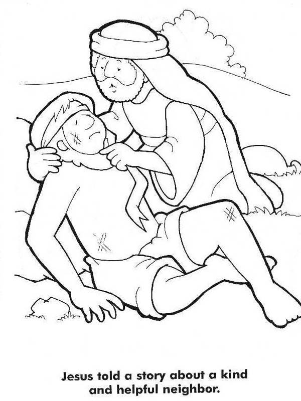 Good Samaritan Story from Jesus Coloring Page - NetArt