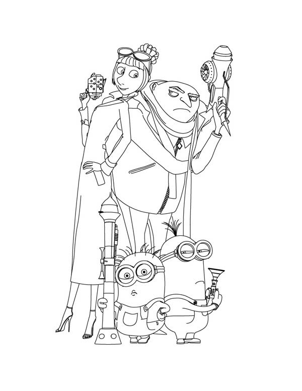 Despicable Me Lucy Coloring Pages | www.imgkid.com - The ...