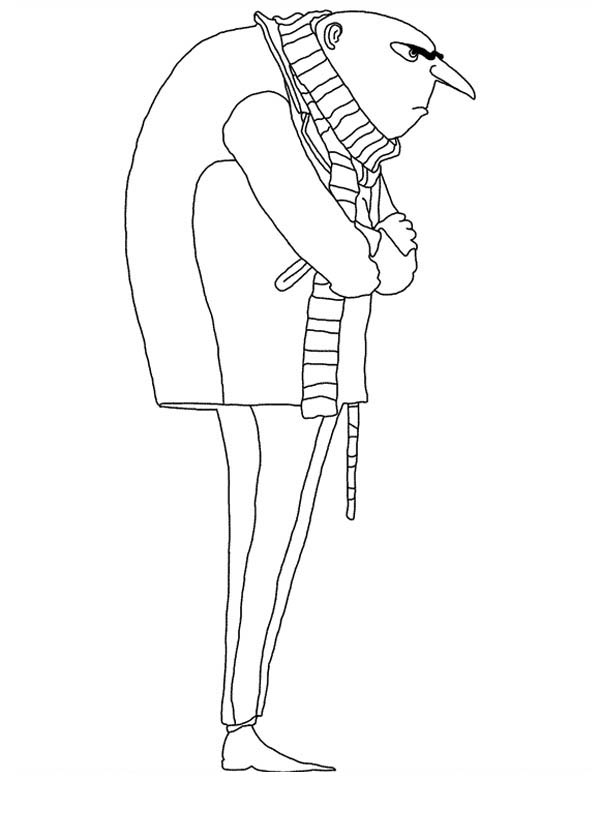 Gru from Despicable Me Coloring Page - NetArt Despicable Me 2 Minions Drawing