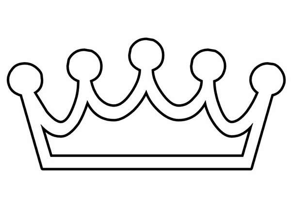 Hand Made Princess Crown Coloring Page