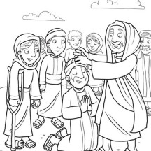 Heals the Sick Because Miracles of Jesus Coloring Page