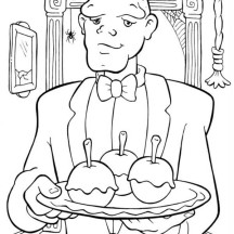 Hideous Servant in Funschool Halloween Coloring Page