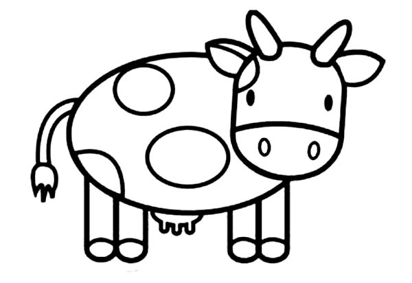 how to draw cow coloring page - Cow Coloring Page