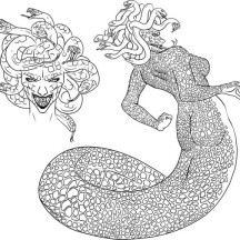How to Draw Medusa Coloring Page