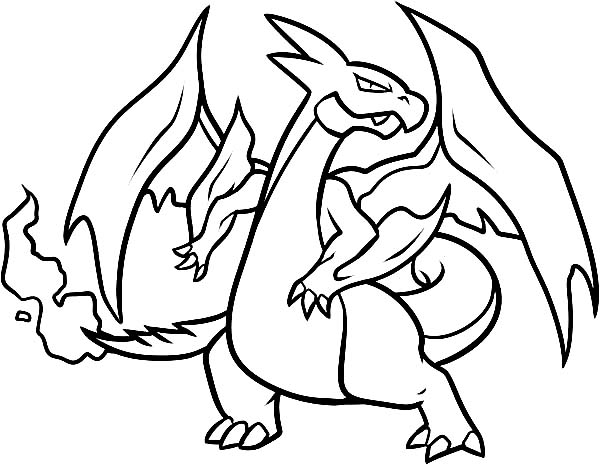 how to draw a charizard coloring page - Charizard Coloring Page