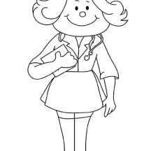 How to Draw a Nurse Coloring Page